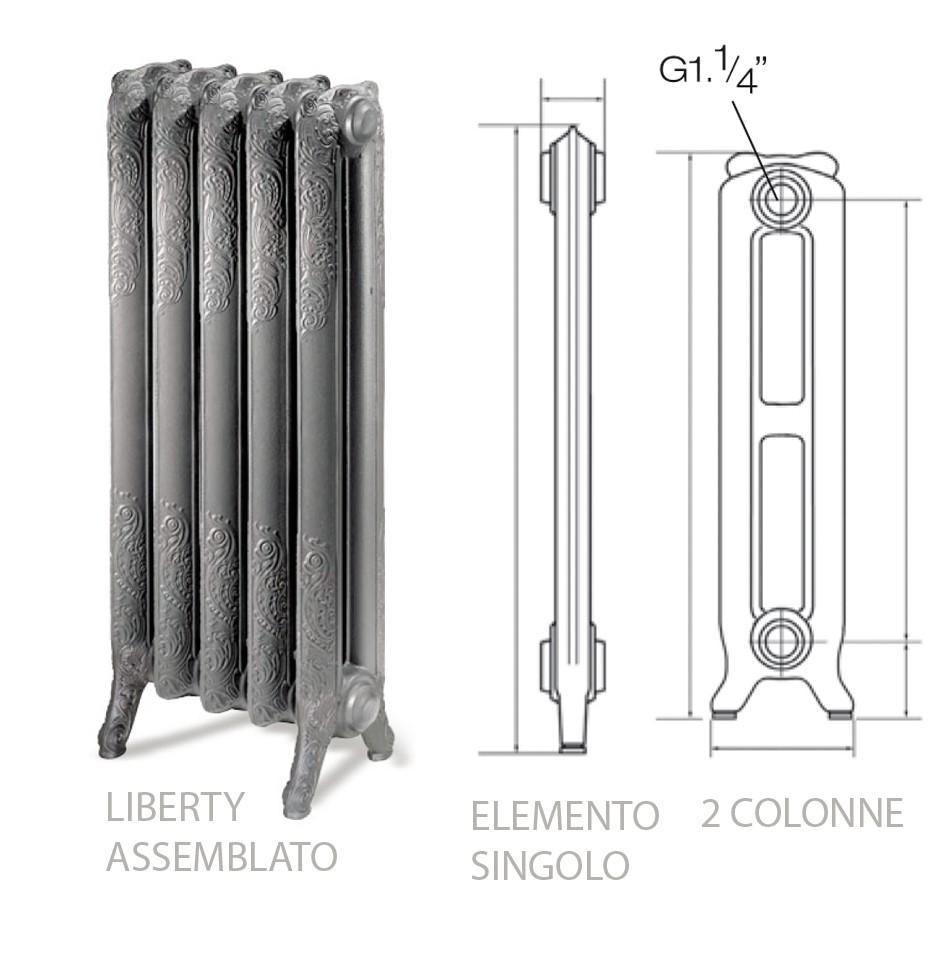 Ercos gclibs990002076001 radiatore liberty for Radiatori in ghisa ercos