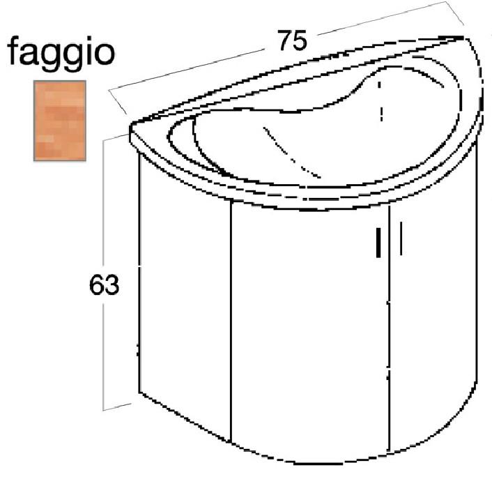 Montegrappa m122020002 mobili lavatoi per bagno novella - Montegrappa mobili bagno ...