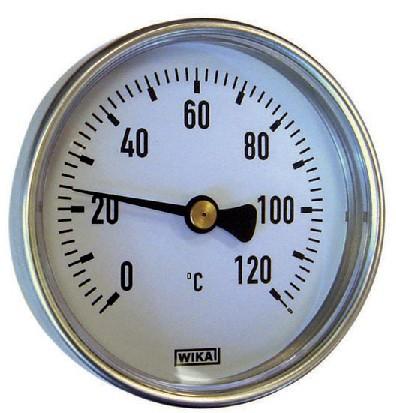 Wika Termometri Bimetallici Dn 63 Dn 80 Dn 100 Posteriore Il termometro bimetallico modello a46 è usato principalmente nelle apparecchiature di riscaldamento, condizionamento dell'aria e refrigerazione per monitorare la temperatura di processo. centrogamma